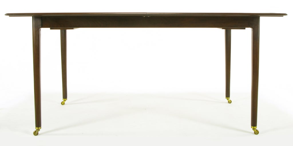 Rare and sleek edward wormley walnut dining table at 1stdibs for 3 sided dining room table