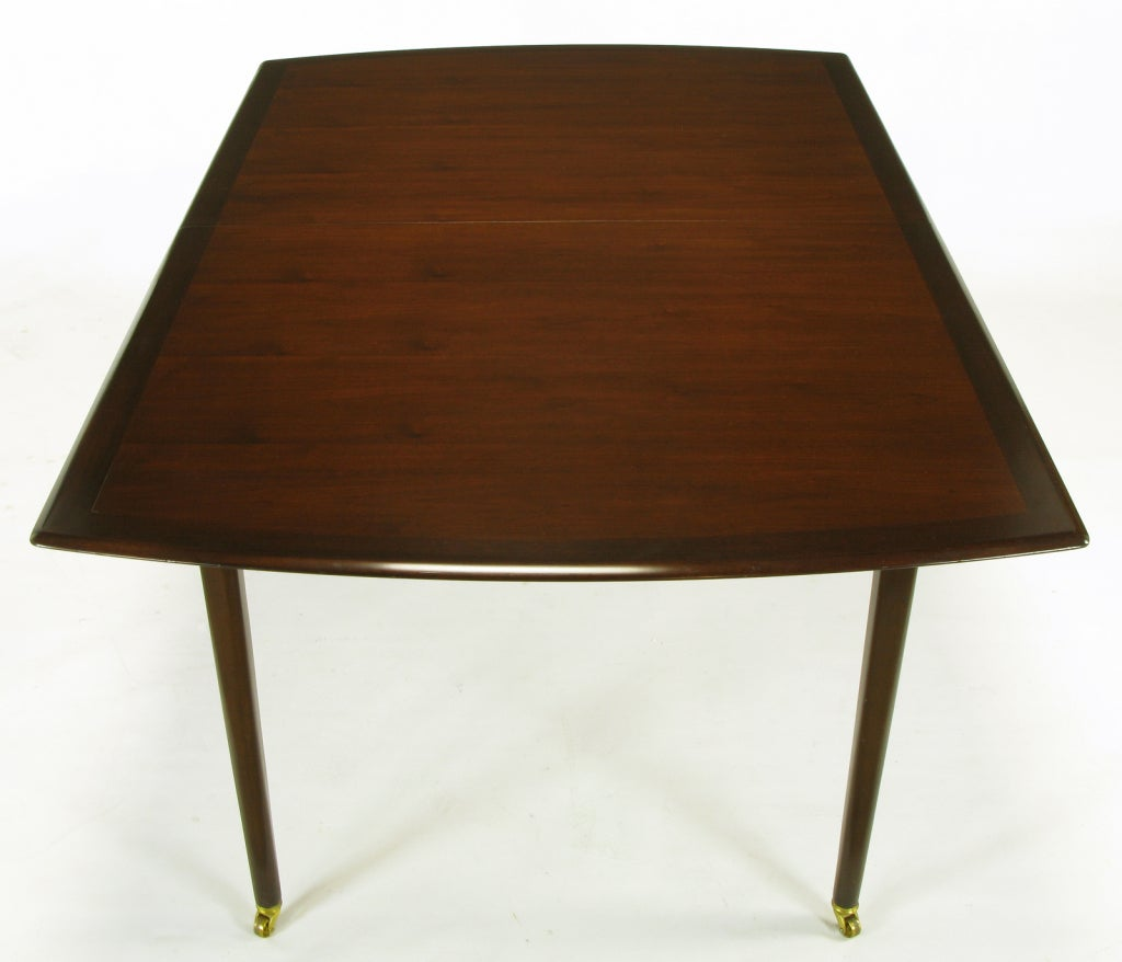 rare and sleek edward wormley walnut dining table at 1stdibs