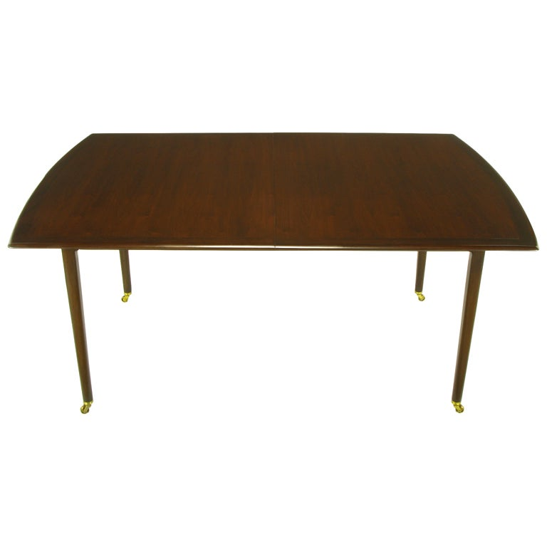 this rare sleek edward wormley walnut dining table is no longer