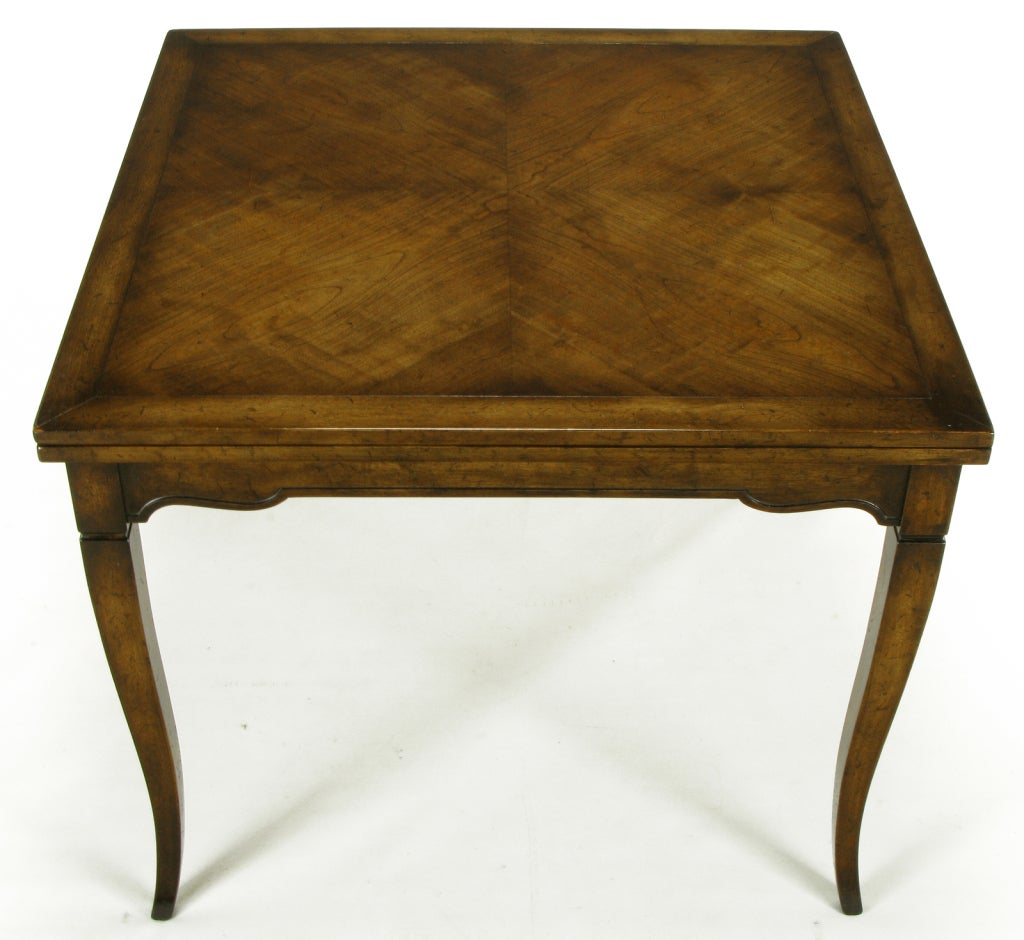 American Old Colony Furniture Walnut Flip Top Table For