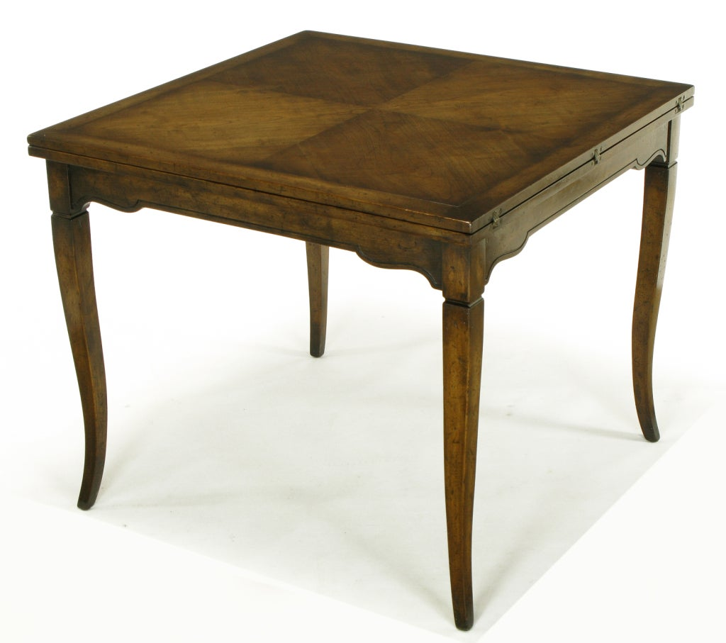 Old Colony Furniture Walnut Flip Top Table For 1