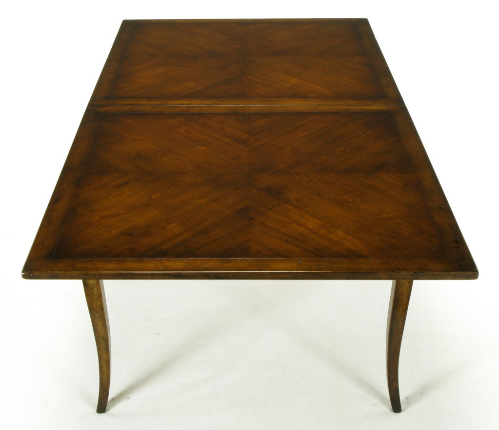 Old Colony Furniture Walnut Flip Top Table For 3