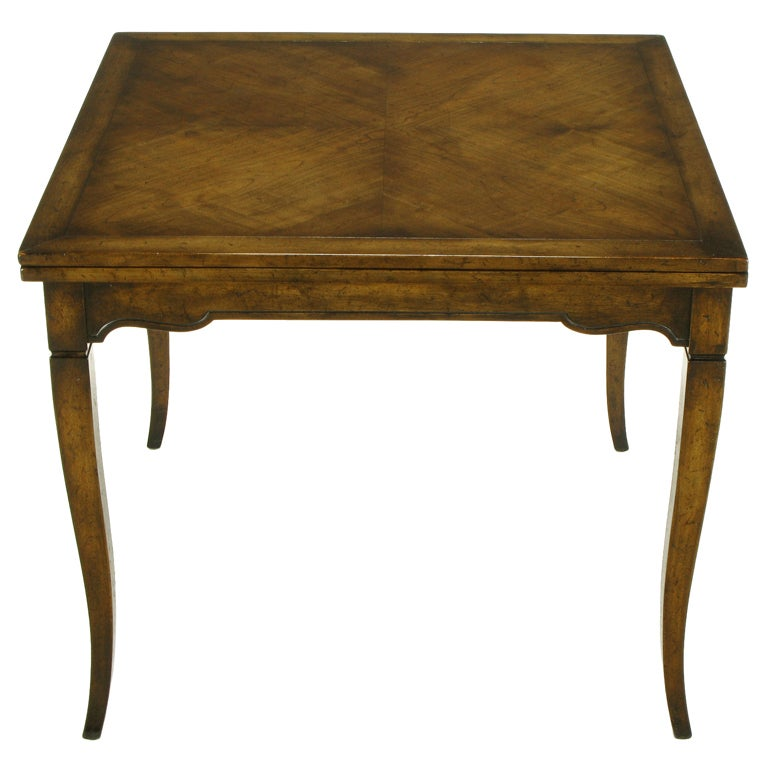 High Quality Old Colony Furniture Walnut Flip Top Games Table 1