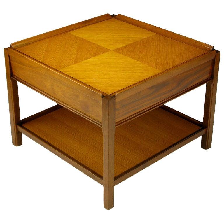 Widdicomb Walnut Parquetry Top End Table