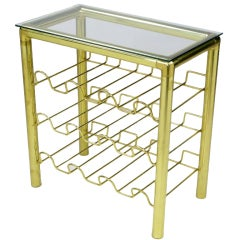 Modern Brass Wine Rack Table