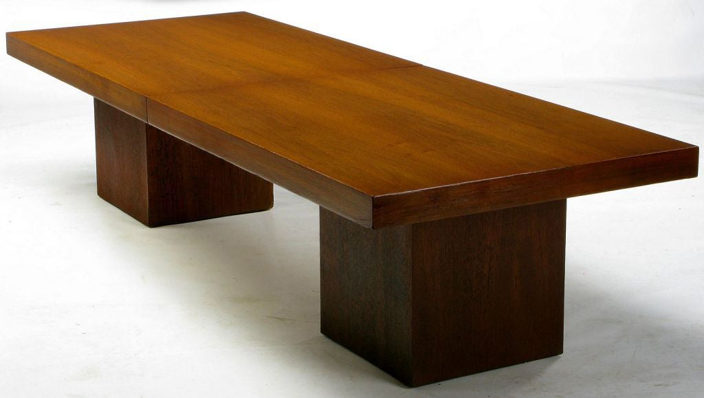 Walnut And Micarta Expanding Top Coffee Table By John Keal At 1stdibs