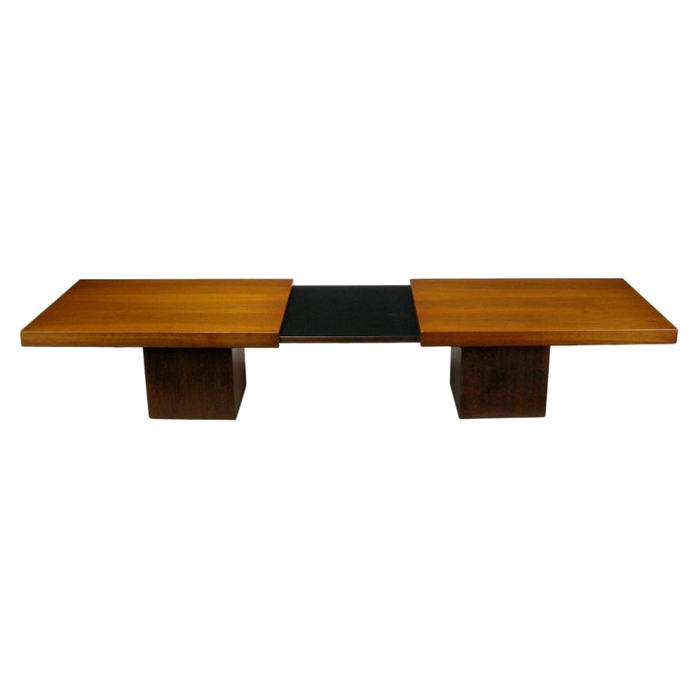 Expandable Coffee Table Pleasing Walnut And Micarta Expanding Top Coffee Tablejohn Keal For Decorating Inspiration