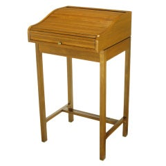Rare Custom Edward Wormley Roll Top Standing Desk By Dunbar