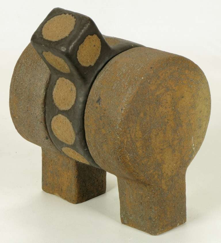 Mid-20th Century Tomiya Matsuda Abstract Modern Ceramic Sculpture For Sale