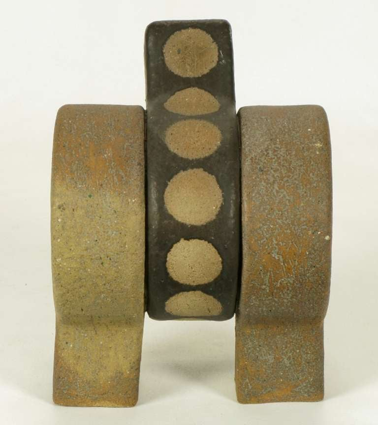 Tomiya Matsuda Abstract Modern Ceramic Sculpture In Excellent Condition For Sale In Chicago, IL
