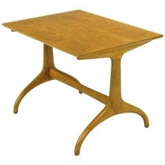 Heritage Henredon Horn Leg Figured Walnut and Mahogany Side Table