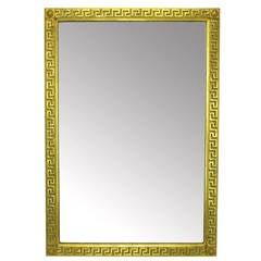 "42"" Borghese Italian Carved Wood & Gilt Greek Key Mirror"