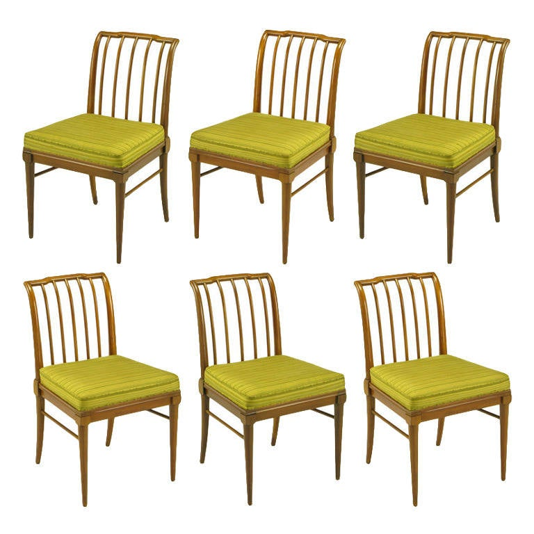 Six J Stuart Clingman Dining Chairs By John Widdicomb For