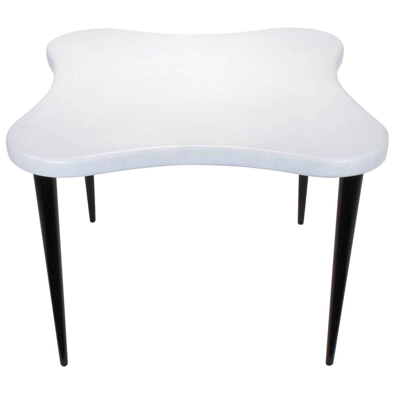 Paul Frankl Cork Top Quatrefoil Game Table For Sale