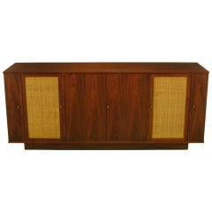 Dunbar Walnut & Cane Credenza By Edward Wormley