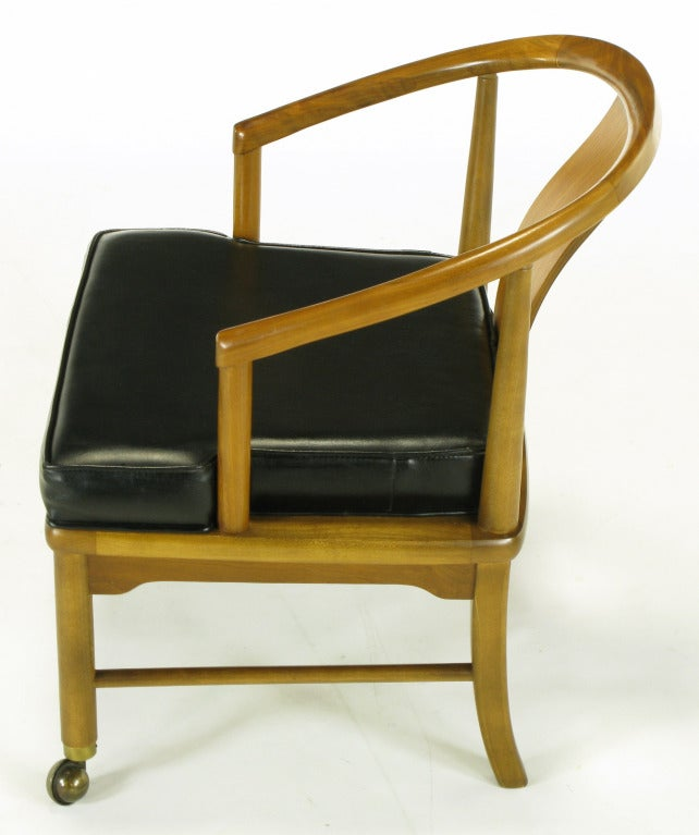 four asian modern yoke back dining chairs for sale at 1stdibs