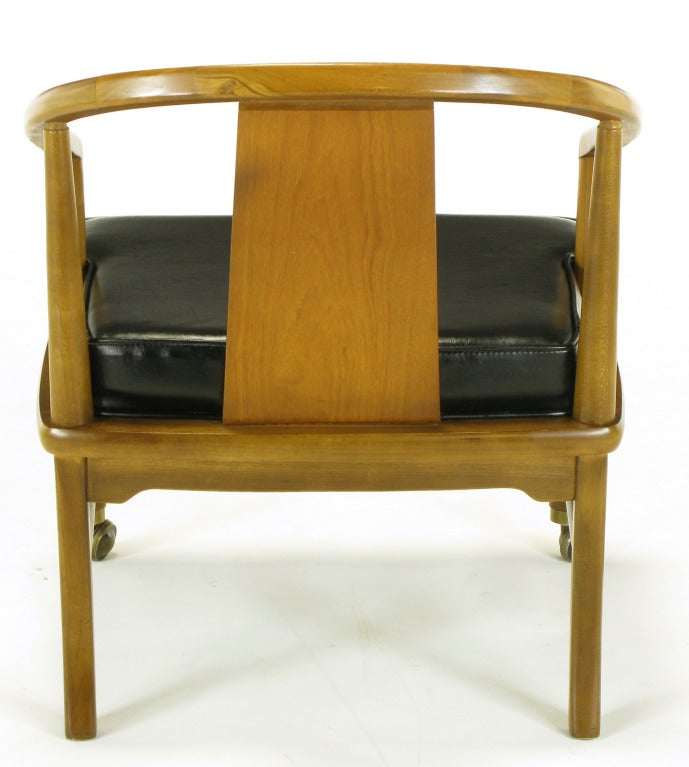Four asian modern yoke back dining chairs for sale at 1stdibs for Oriental dining room furniture for sale