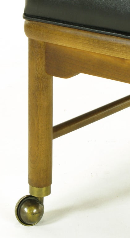 Four Asian Modern Yoke Back Dining Chairs For Sale 3