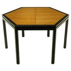 Edward Wormley Hexagonal Mahogany & Tawi Dining Table