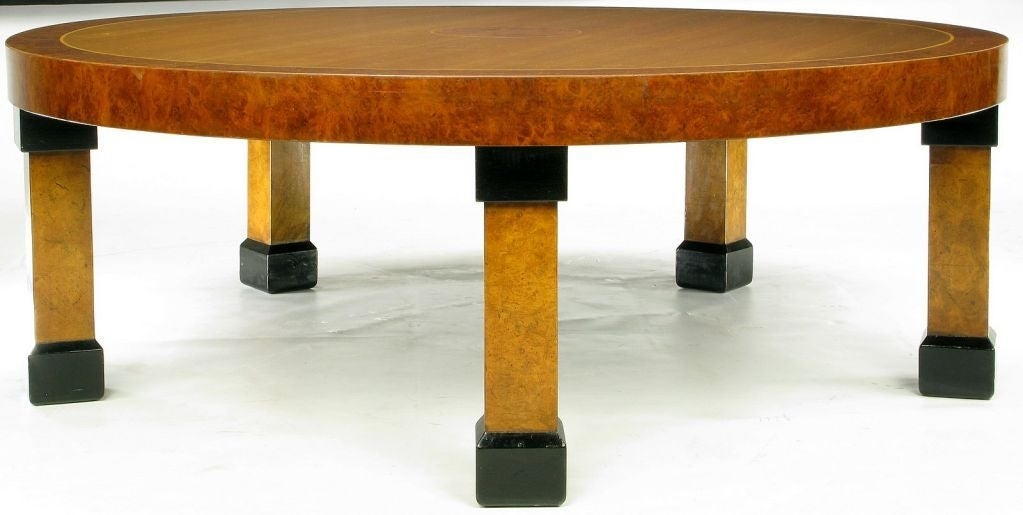 Large Baker Postmodern Five-Leg Coffee Table In Good Condition For Sale In Chicago, IL