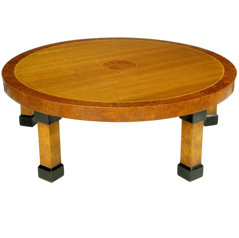 Large Baker Postmodern Five-Leg Coffee Table For Sale
