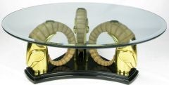 Stylized Deco Moderne Brass Ibyx Coffee Table thumbnail 2