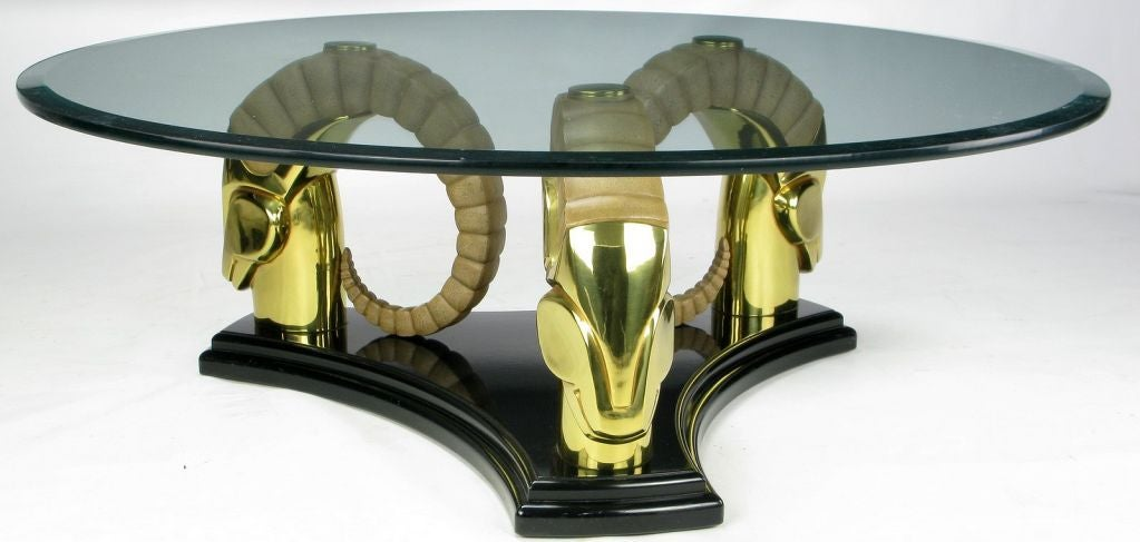Stylized Deco Moderne Brass Ibyx Coffee Table image 3