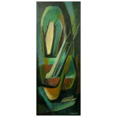 Colorful Jean Devaud Abstract Painting