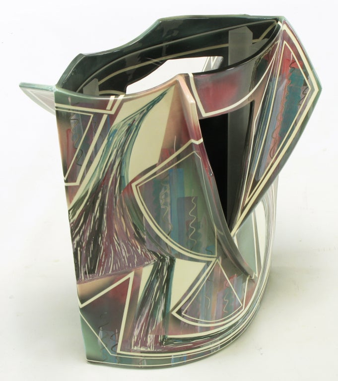 Signed Abstract Ceramic Sculpture Table In Good Condition For Sale In Chicago, IL