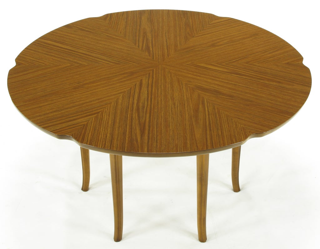 Six-Leg Mahogany Game Table with Hexafoil Top In Good Condition For Sale In Chicago, IL