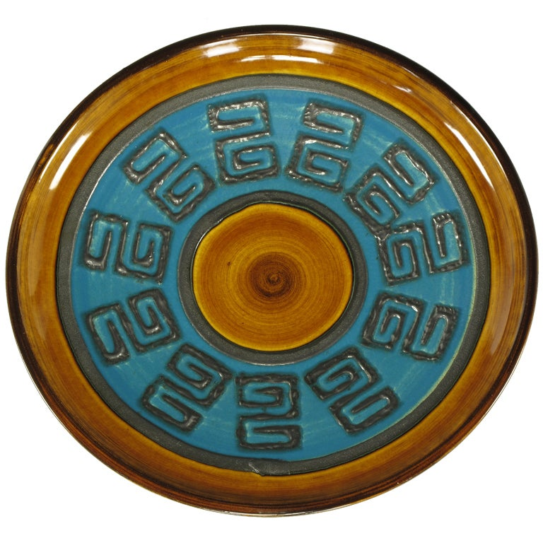 Glazed Ceramic Charger Stamped Germany 289-29