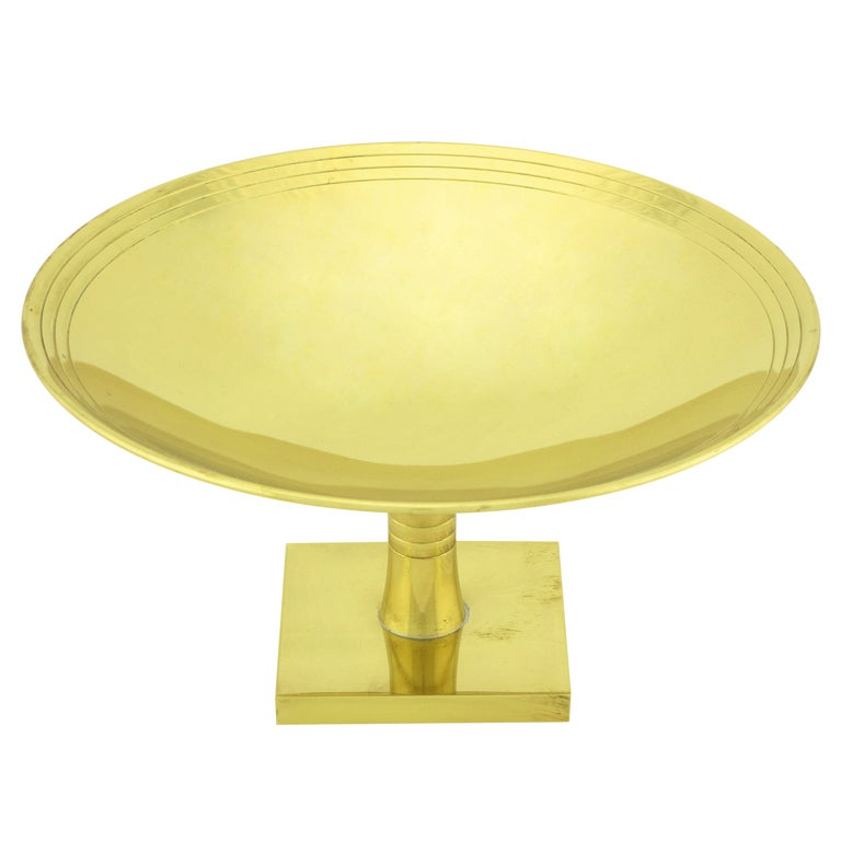 Tommi Parzinger  For Dorlyn Brass Footed Compote.