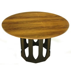 Harvey Probber Rosewood Game Table With Decagon Base