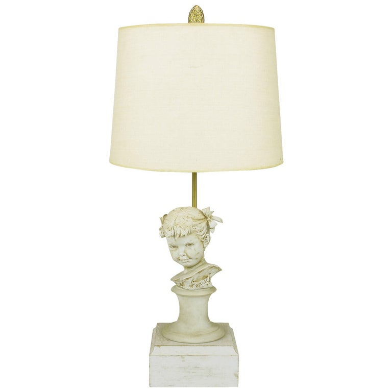 Bruno Merll for Marbro Capodimonte Child Bust Table Lamp For Sale