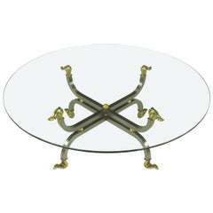 Regency Brass & Gunmetal Coffee Table