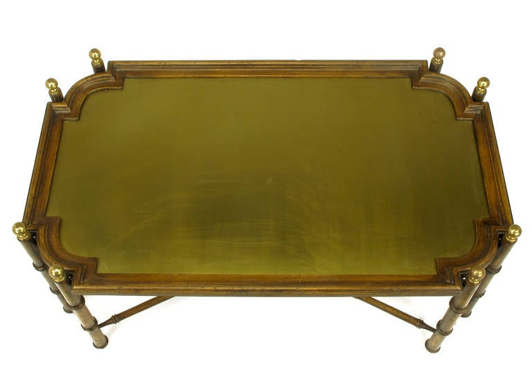 chinese chippendale spanish made coffee table with removable brass inset tray image 4. Black Bedroom Furniture Sets. Home Design Ideas