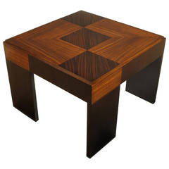 John Widdicomb Natural and Bleached Macassar Ebony and Walnut Coffee Table