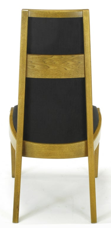 Six Sculpted Ash Tall Back Kroehler Dining Chairs For Sale 2