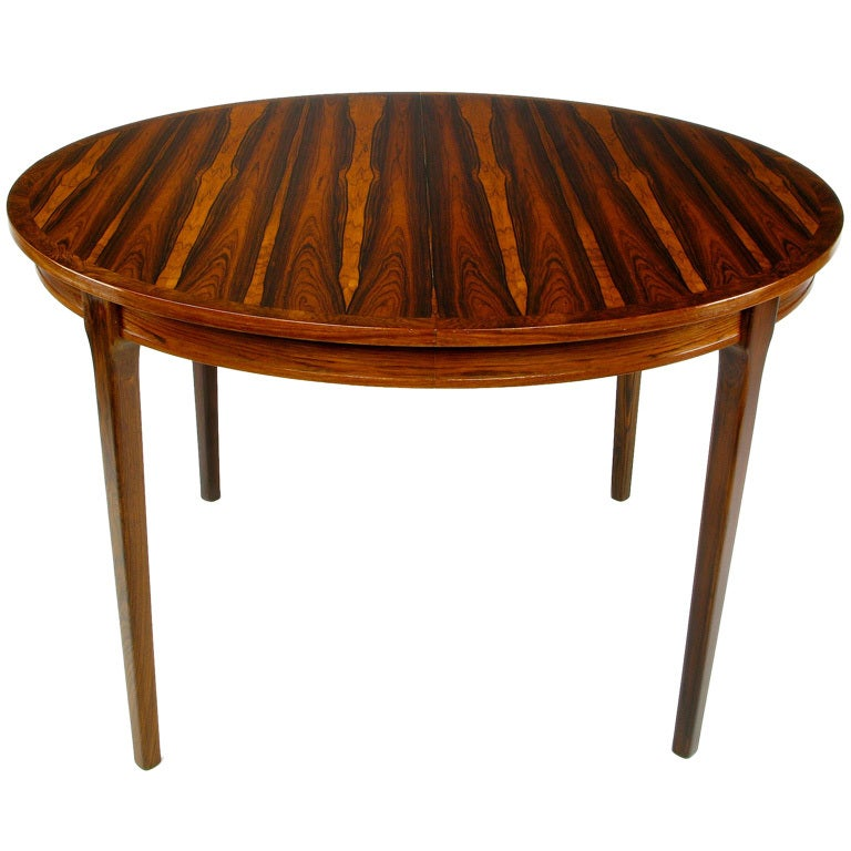 Exceptional Studio Built Round Rosewood Dining Table at  : 841913440318222 from www.1stdibs.com size 768 x 768 jpeg 56kB