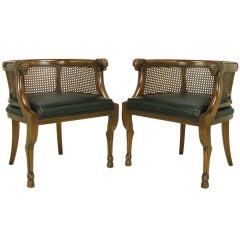 Pair Empire Style Animal Leg & Rams' Heads Armchairs