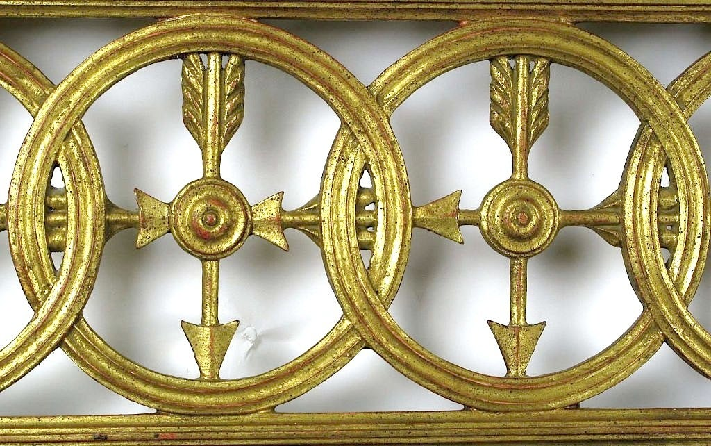 Large Italian Empire Gilt Mirror For Sale 1