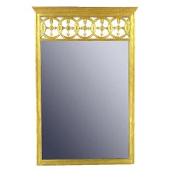 Large Italian Empire Gilt Mirror