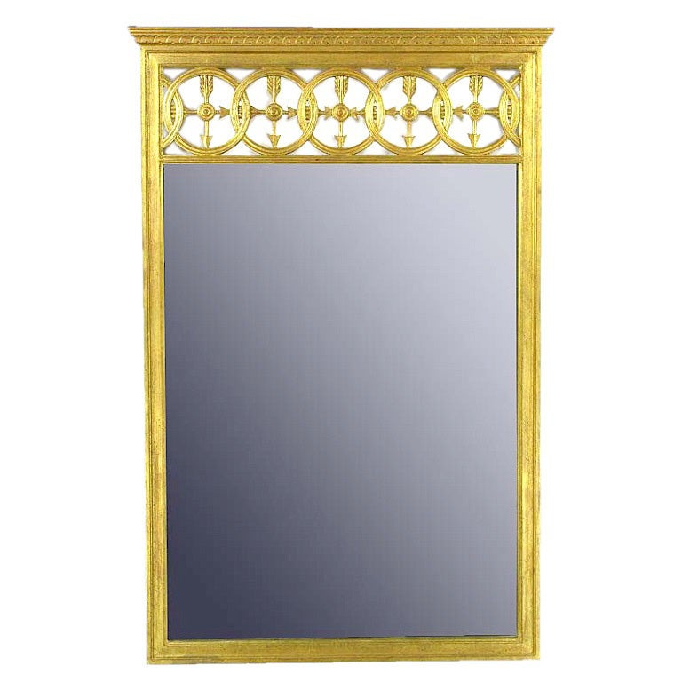 Large Italian Empire Gilt Mirror For Sale