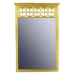 Large Italian Empire Gilt Mirror