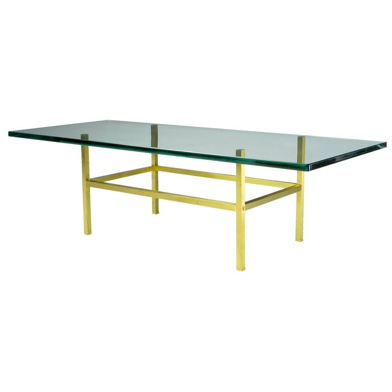 Solid Brass Square Bar Coffee Table After Dunbar
