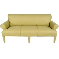 Donghia Fully Upholstered Camel Wool Felt Sofa