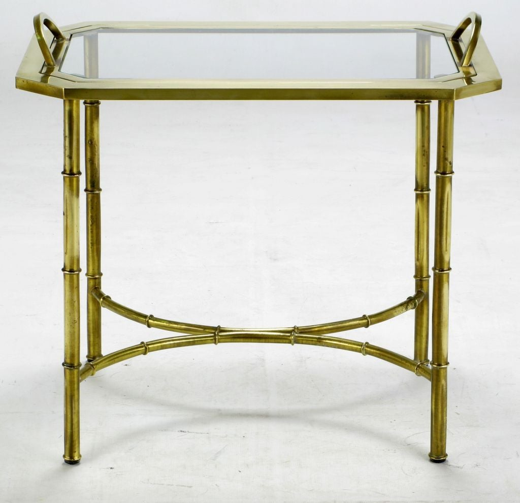 Italian Stylized Brass Bamboo Tray Table 2