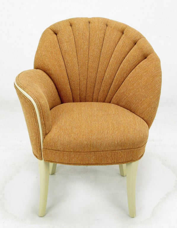 pair 1930s asymmetrical art deco shell back chairs at 1stdibs Lounge Chairs for Living Room Lounge Chairs for Living Room