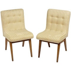 Pair 1940s Side Chairs