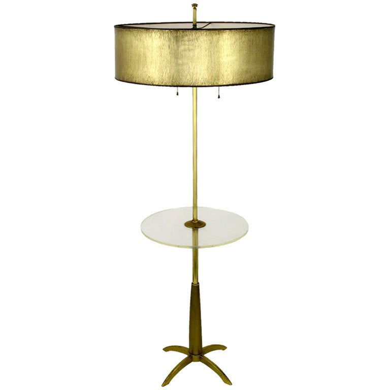 this stiffel brass floor lamp with round lucite table is no longer. Black Bedroom Furniture Sets. Home Design Ideas